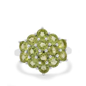 Changbai Peridot Ring in Sterling Silver 4cts