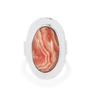 13ct Rhodochrosite Sterling Silver Aryonna Ring