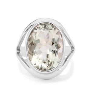 9ct Prasiolite Sterling Silver Aryonna Ring