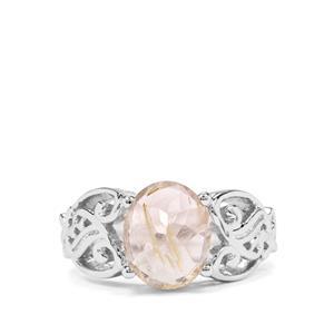 3.12ct Bahia Rutilite Sterling Silver Ring