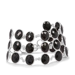 Black Onyx Bracelet in Sterling Silver 59.46cts