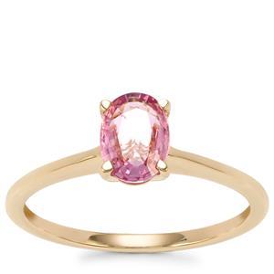 Sakaraha Pink Sapphire Ring in 10K Gold 0.75ct