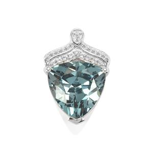 Versailles Topaz Pendant with White Topaz in Sterling Silver 4.95cts