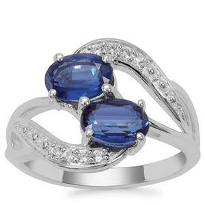 Nilamani Ring with White Zircon in Sterling Silver 2.39cts