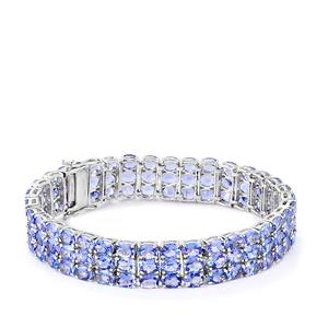 Tanzanite Bracelet  in Sterling Silver 33.22cts