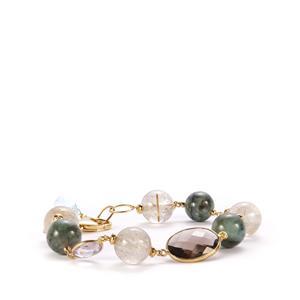 Carnaiba Emerald and Gemstone Sterling Silver Sarah Bennett Bracelet ATGW 72.68ct