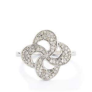 1/3ct Diamond Sterling Silver Ring