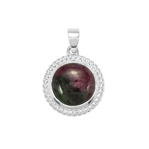 Ruby-Zoisite Pendant in Sterling Silver 15.24cts