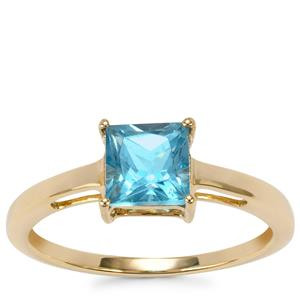 Swiss Blue Topaz Ring in 10K Gold 1.33cts