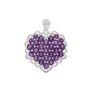 Amethyst Pendant Sterling Silver 3.91cts