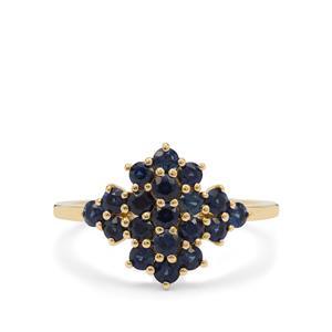 1.10ct Australian Blue Sapphire 9K Gold Ring