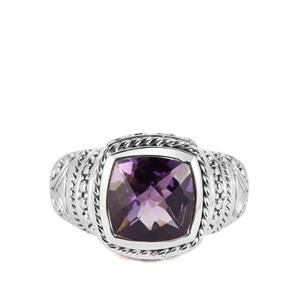 3.50ct Amethyst Sterling Silver Samuel B Ring