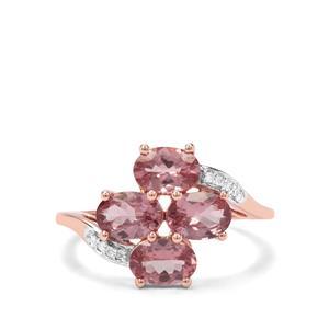 Mahenge Hope Spinel & Diamond 9K Rose Gold Ring ATGW 2.57cts