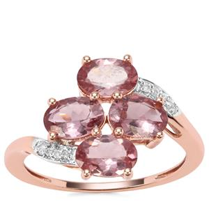 Mahenge Hope Spinel Ring with Diamond in 9K Rose Gold 2.57cts