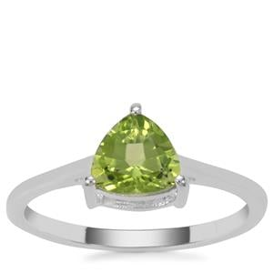Red Dragon Peridot Ring in Sterling Silver 1.35cts