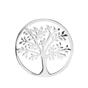 Tree Of Life Sterling Silver Disc 3.80g