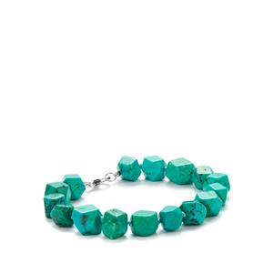 Turquoise Bracelet in Sterling Silver 113.20cts