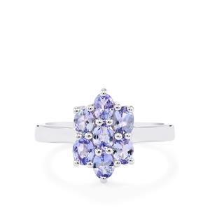 Tanzanite Ring in Sterling Silver 1.11cts