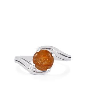 1.78ct Bahia Rutilite Sterling Silver Ring