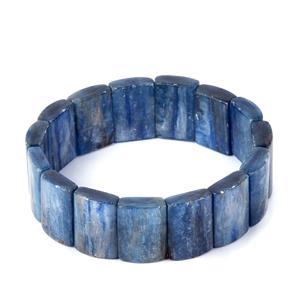 300cts Elasticated Kyanite Bracelet