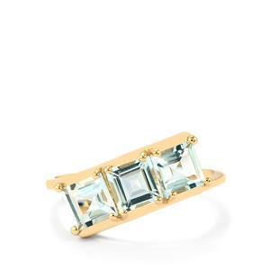 1.64ct Pedra Azul Aquamarine 9K Gold Ring