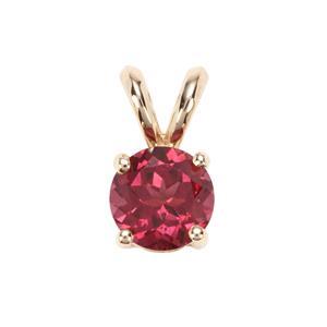Umba Pink Garnet Pendant in 9K Gold 1.45cts