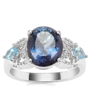 Hope Topaz Ring with Swiss Blue Topaz in Sterling Silver 5.23cts