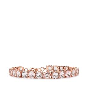 18.96ct Alto Ligonha Morganite 9K Rose Gold Bracelet
