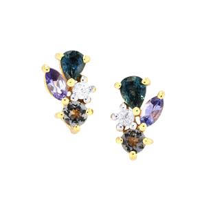 Harlequin Earrings in 10K Gold 1ct
