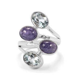Tanzanite & Sky Blue Topaz Sterling Silver Aryonna Ring ATGW 6cts