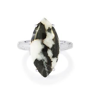 12.96ct Zebra Jasper Sterling Silver Ring