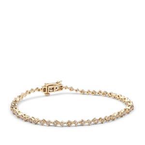 Champagne Argyle Diamond Bracelet in 9K Gold 2cts