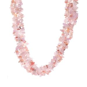 Rose Quartz, Kunzite Necklace with Pink Opal in Sterling Silver 594.84cts