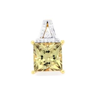 Csarite® Pendant with Diamond in 18k Gold 2.88cts