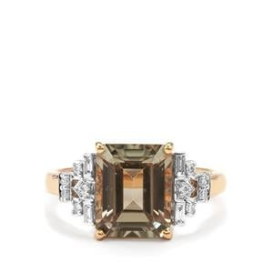 Csarite® Ring with Diamond in 18K Gold 4.18cts