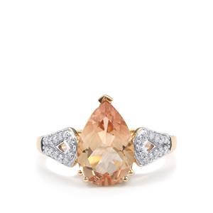 Serenite & Diamond 18K Gold Tomas Rae Ring MTGW 2.68cts