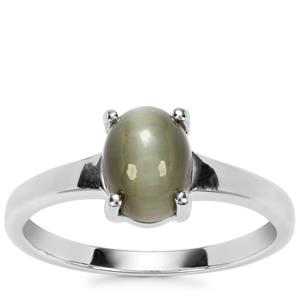 Cat's Eye Ring in Sterling Silver 1.53cts