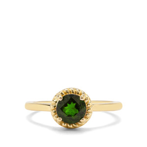 0.92ct Chrome Diopside 9K Gold Ring