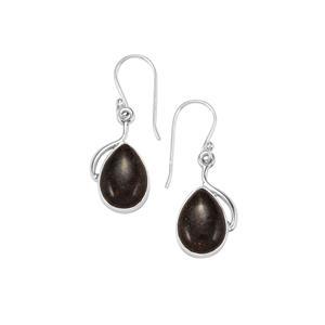 Andamooka Opal Earrings in Sterling Silver 9cts