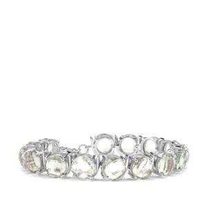 Prasiolite Bracelet in Sterling Silver 45.75cts