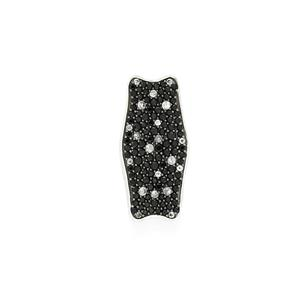 Black Spinel & White Topaz Sterling Silver Pendant ATGW 2.08cts