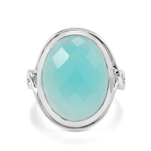 Aqua Chalcedony Ring in Sterling Silver 12.43cts