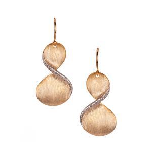 Earrings in Two Tone Sterling Silver 4.56g