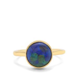 4.22ct Azure Malachite Midas Ring