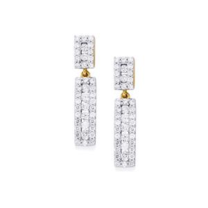 Diamond Earrings in 18k Gold 1ct