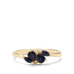 0.63ct Australian Blue & Thai Sapphire 9K Gold Ring