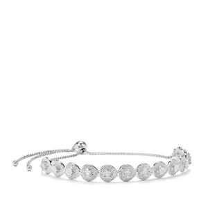 Diamond Slider Bracelet in Sterling Silver 0.07ct