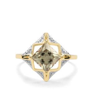 2ct Csarite® 9K Gold Ring