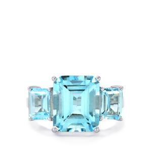 9.34ct Sky Blue Topaz Sterling Silver Ring