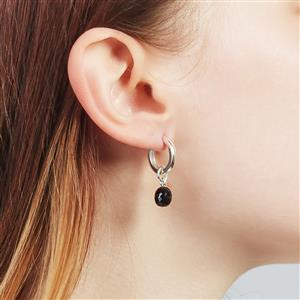 Molte Black Onyx Oval Charm in Sterling Silver